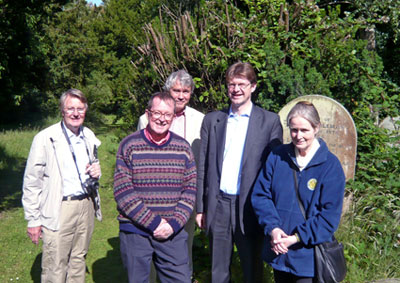 MP Greg Clark visits Woodbury Park Cemetery